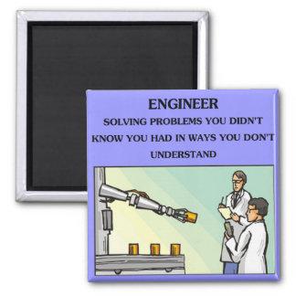 engineer engineering joke square magnet