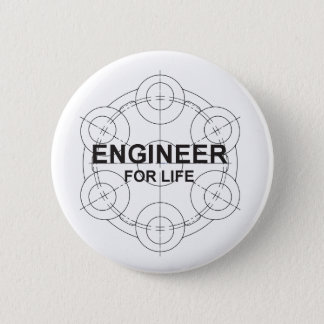 Engineer for Life 6 Cm Round Badge