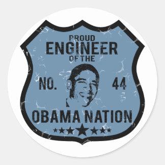 Engineer Obama Nation Stickers