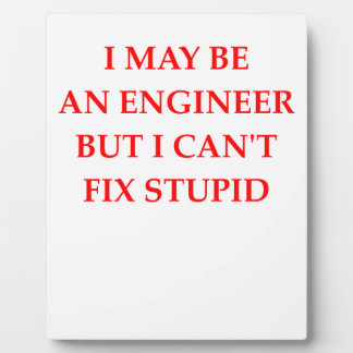 ENGINEER PLAQUE