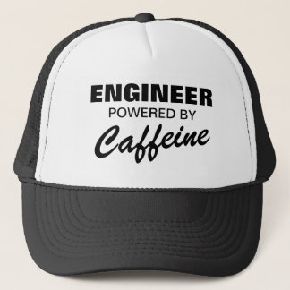 Engineer powered by caffeine funny trucker hat