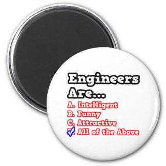 Engineer Quiz Joke Fridge Magnet