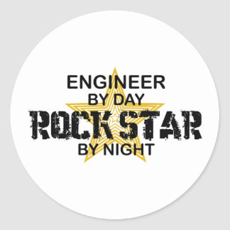 Engineer Rock Star by Night Stickers