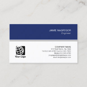 engineer technical simple minimal professional business card - Engineer Business Card