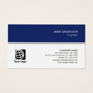 Engineer Technical Simple Minimal Professional Business Card