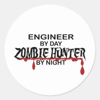Engineer Zombie Hunter Round Sticker