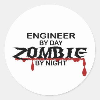 Engineer Zombie Round Sticker
