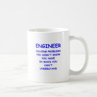 engineering basic white mug