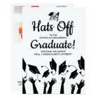 Engineering Grad Photo Hats Off Graduation Party Card