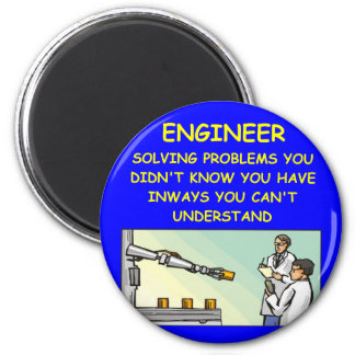 engineering joke 6 cm round magnet