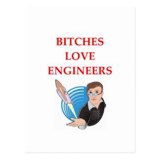 engineering joke postcard