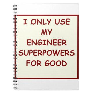 engineering spiral notebook