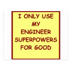 engineering postcard