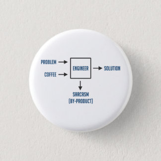 Engineering Sarcasm By-product 3 Cm Round Badge
