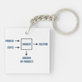 Engineering Sarcasm By-product Key Ring