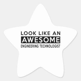 ENGINEERING TECHNOLOGIST DESIGNS STAR STICKER