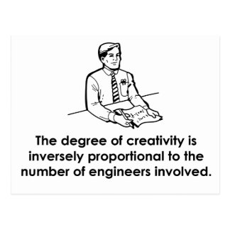 Engineers Creativity Post Cards