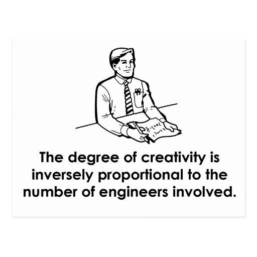 Engineers & Creativity Post Cards