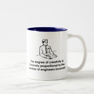 Engineers & Creativity Two-Tone Coffee Mug