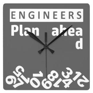 Engineers Plan Ahead Falling Numbers Wall Clock