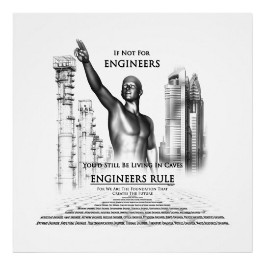 Engineers Rule Archival Poster