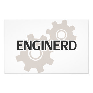 Enginerd Engineer Nerd Stationery Design