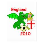 England 2010 postcard