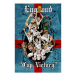 England 2014 Cup Victory Football Soccer Print