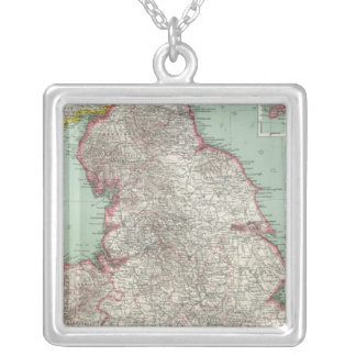 England 5 silver plated necklace