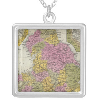 England 7 silver plated necklace