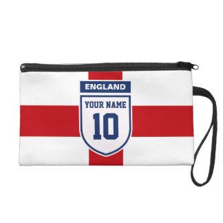 England Allegiance Fans - Customisable Name Number Wristlet Purse