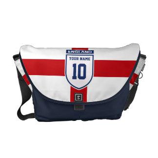 England Allegiance Fans - Customisable Name Number Messenger Bag