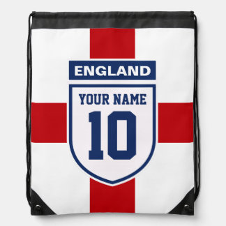 England Allegiance Fans - Customizable Name Number Drawstring Bags
