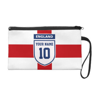 England Allegiance Fans - Customizable Name Number Wristlet Purse