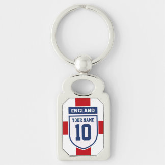 England Allegiance Fans - Customizable Name Number Key Chains