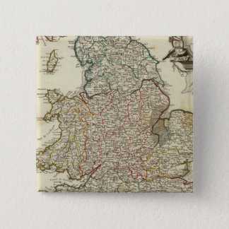 England and Wales 2 15 Cm Square Badge