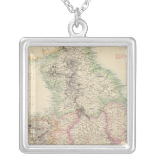 England and Wales 4 Silver Plated Necklace