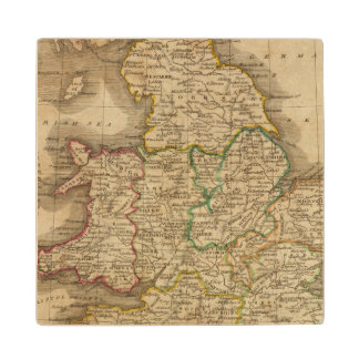 England and Wales 4 Wood Coaster