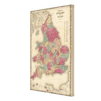 England and Wales 5 Canvas Print