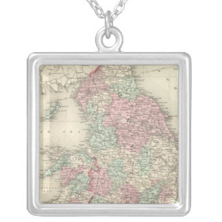 England and Wales 5 Silver Plated Necklace