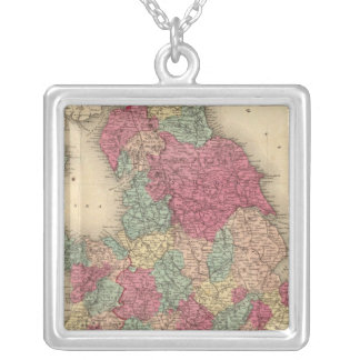 England and Wales 6 Silver Plated Necklace
