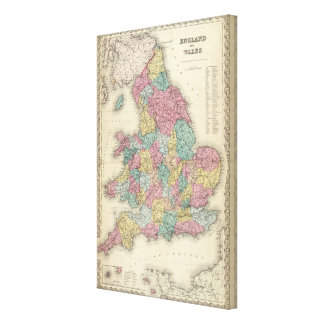 England And Wales Canvas Print