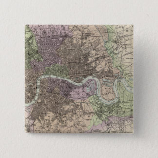 England and Wales - Cities, Ports and Harbours 15 Cm Square Badge