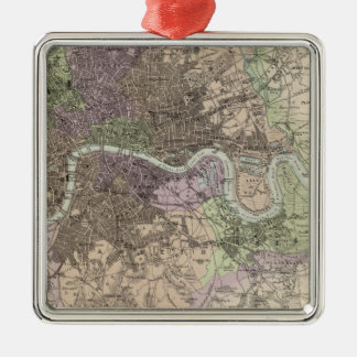 England and Wales - Cities, Ports and Harbours Silver-Colored Square Decoration