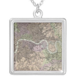 England and Wales - Cities, Ports and Harbours Silver Plated Necklace