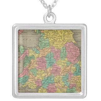 England And Wales Silver Plated Necklace