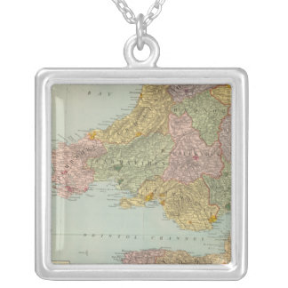England and Wales Southwest Silver Plated Necklace