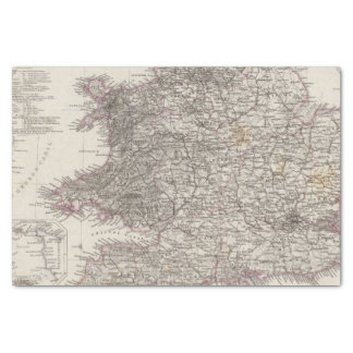 England Atlas Map Tissue Paper