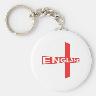 England Basic Round Button Key Ring