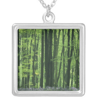 England, Beech forest & Bluebells Silver Plated Necklace